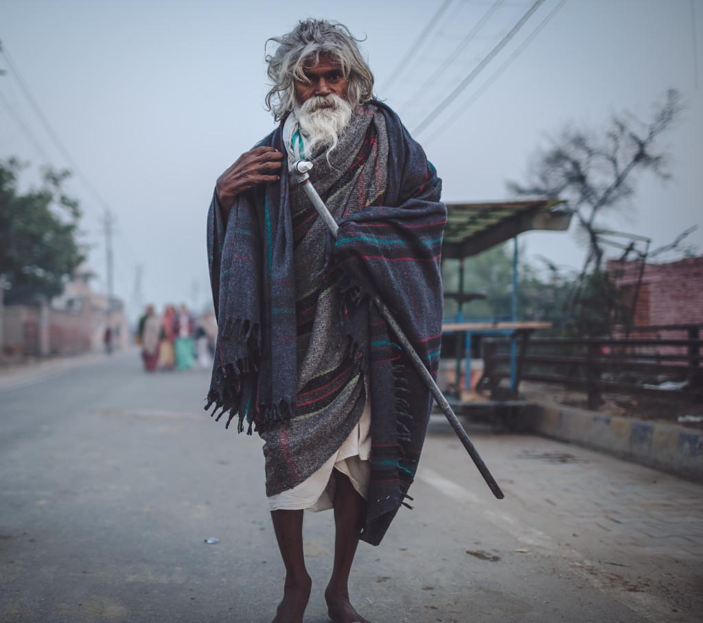 Sadhu walking