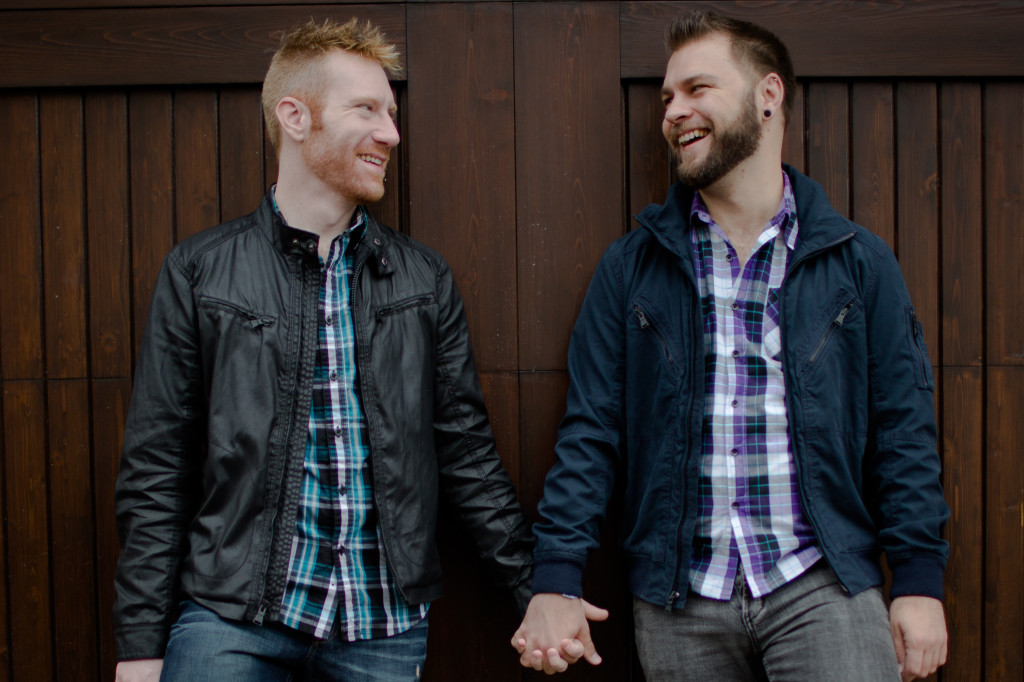same sex engagement session
