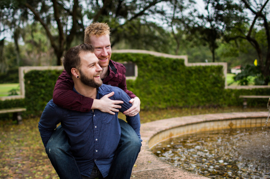 engagement session in the rain. Same sex engagement photographer