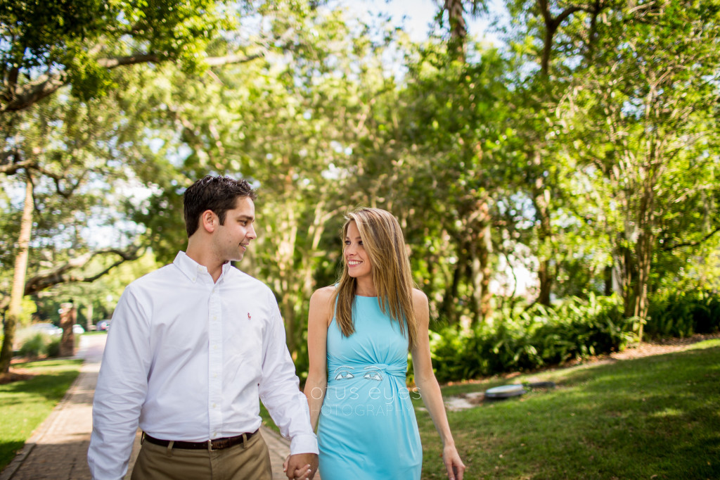 lake lily engagement session