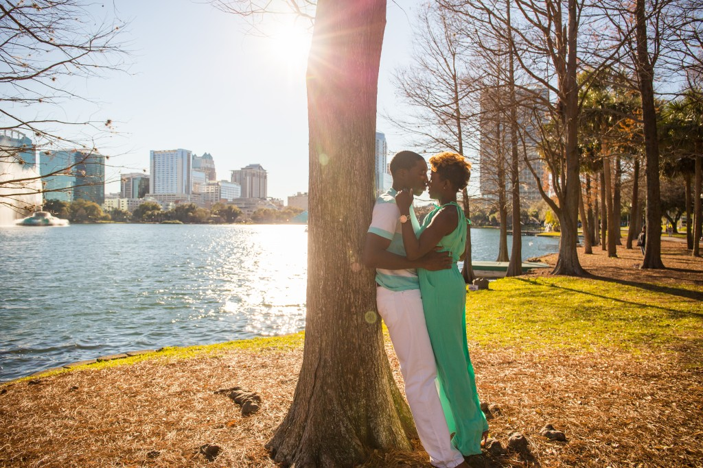 Lake Eola Engagement Photography