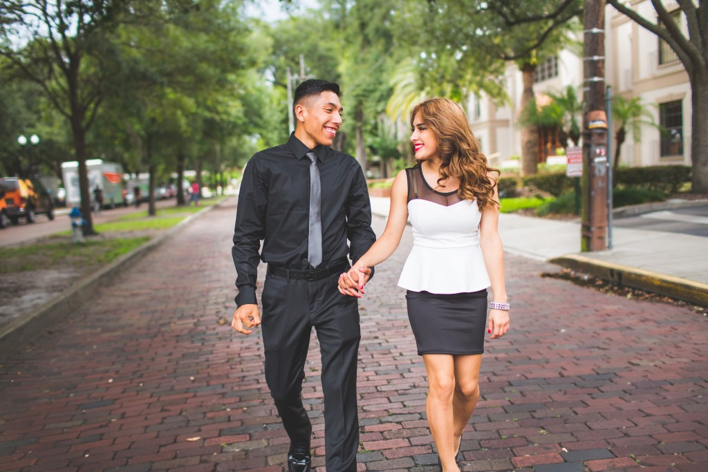 Lake Eola Engagement Photography