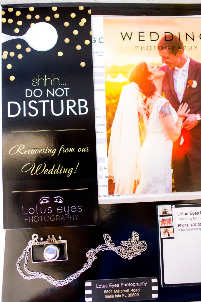 "I love this ""Do Not Disturb"" door hanger. A fun little branded item that we include in our welcome package."