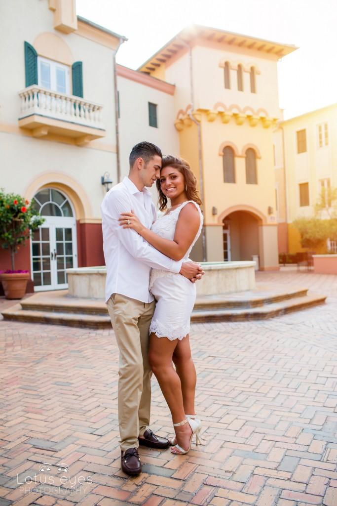 Wedding Engagement session at Loews Portofino Bay Hotel