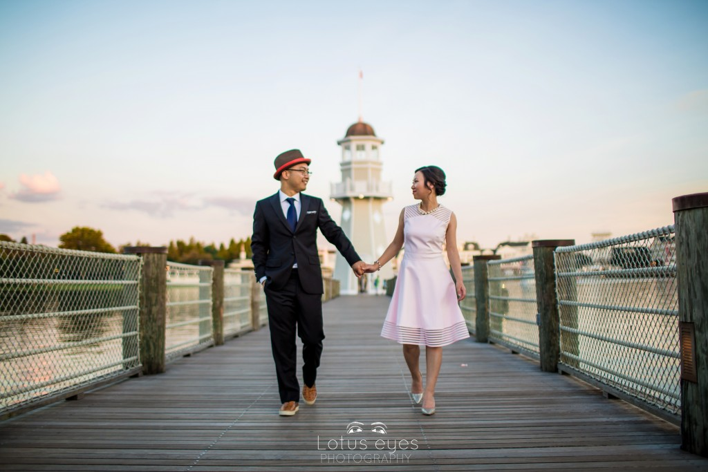 engagement session at Disney's Boardwalk