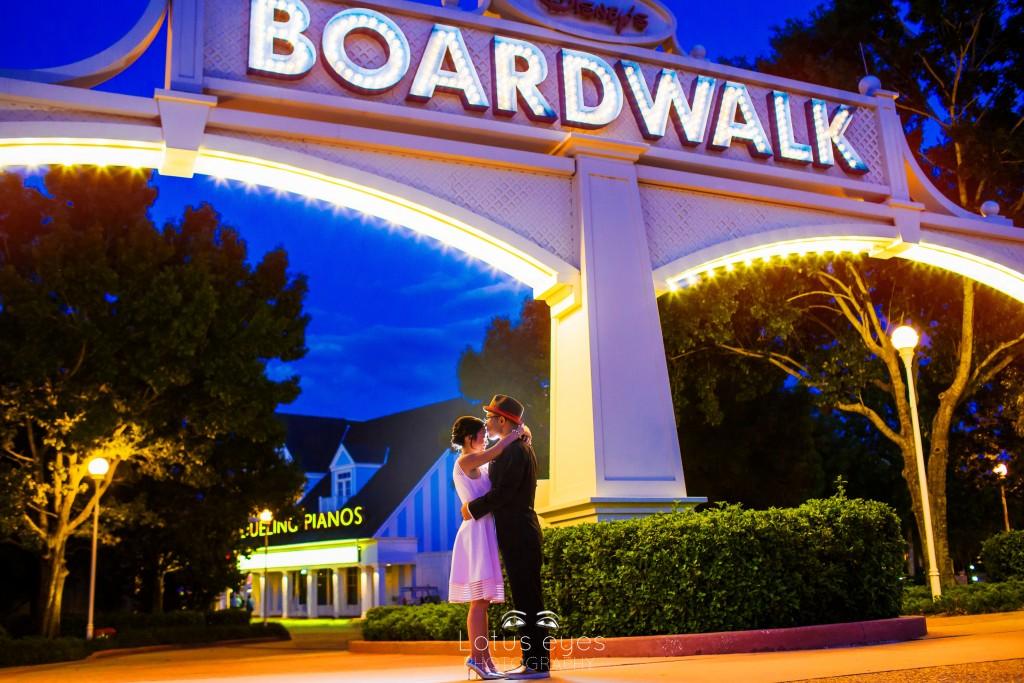 Disney's Boardwalk Engagement Session