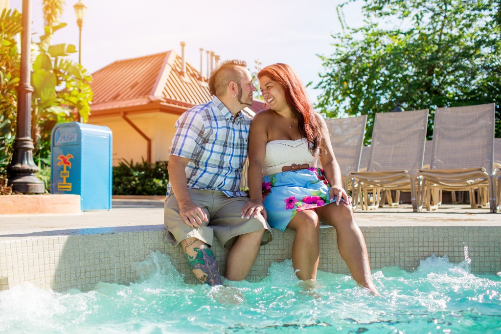 Nicole and Richard's Disney's Caribbean Resort Portrait session