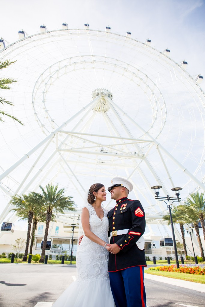 Orlando Eye Wedding photography