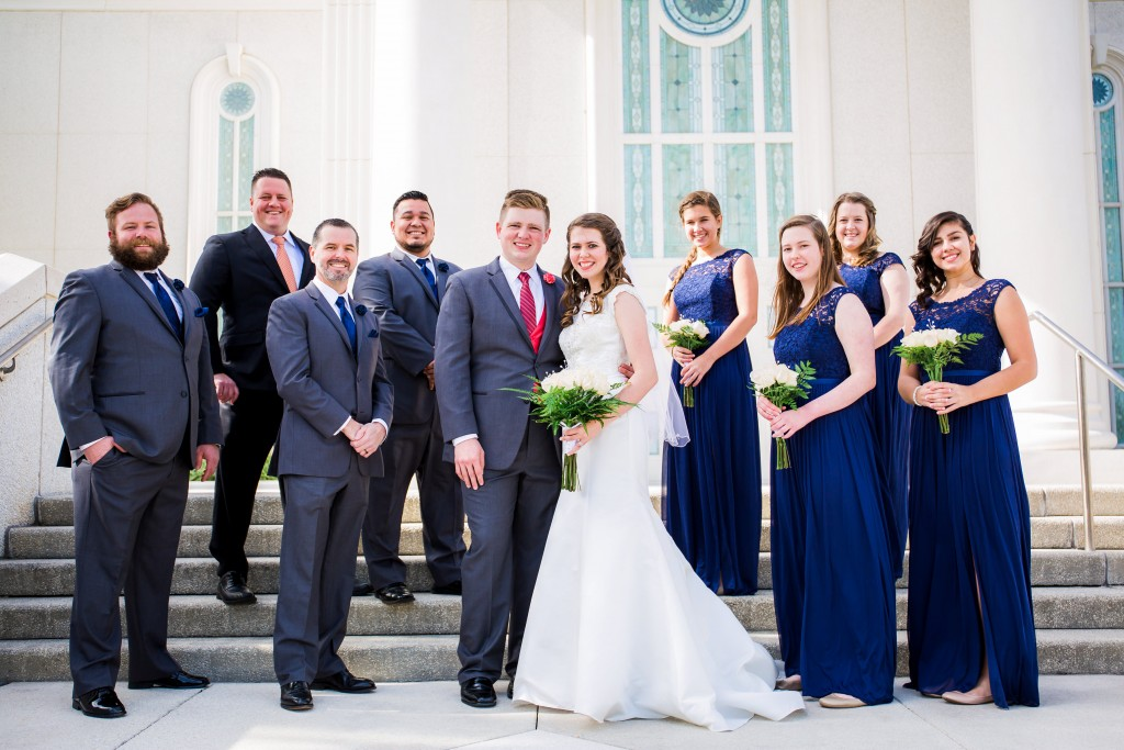 Wedding portrait session Orlando LDS temple