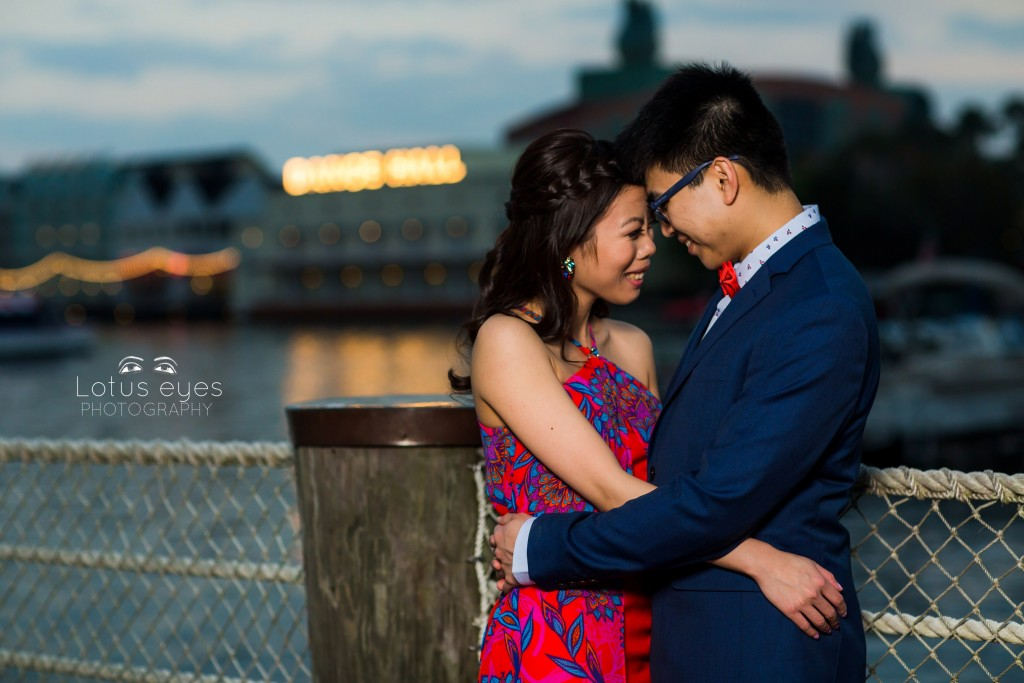 Valentines Day Engagement Session at Disney's Boardwalk