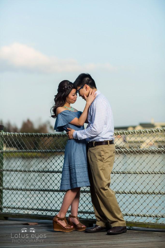 Valentines Day Engagement Session at Disney's Boardwalk